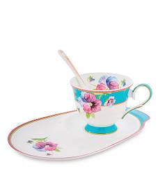 Чайний набір Pavone Фіалки 3 предмета 1451496