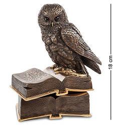 Шкатулка Veronese Сова на книгах 18 см 1903730