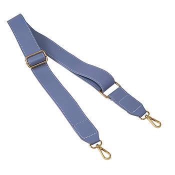 Ремень плечевой для сумки Небесно-голубой, экокожа 81-133 см (ширина 40 мм)