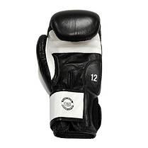 Перчатки боксерские THOR SPARRING 16oz /Кожа /черно-белые, фото 3