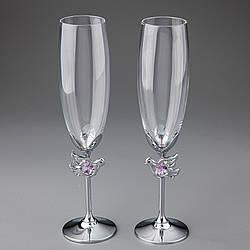 Свадебные бокалы Crystocraft Голуби 2 шт 10375-C11SL