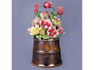 Статуетка Lefard Кошик з квітами 18 см 461-225