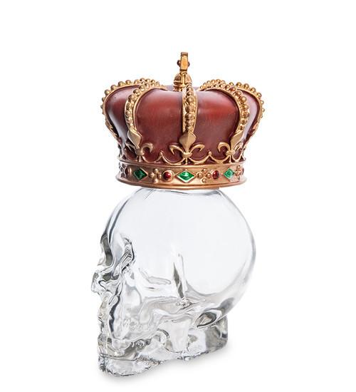 Статуэтка-флакон Veronese Корона на черепе 12,5 см 1906352