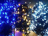 Гирлянда линейная String LED НГ-022 SLG, черн. провод, 500 диод., белый/теплый/синий/RGB на выб.+к, IP33, 220В