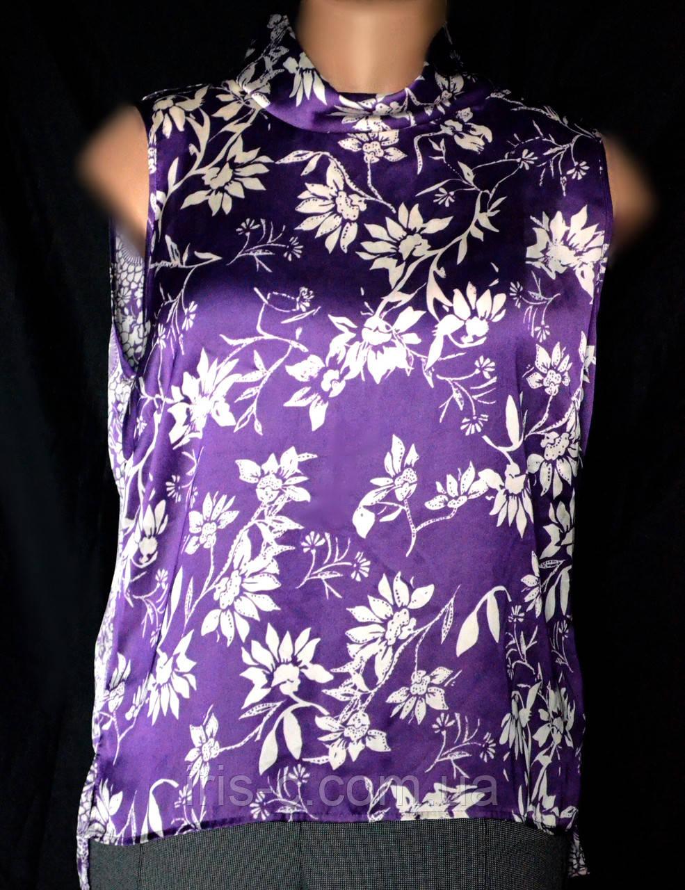 Блузка женская, большой размер, из атласной ткани, р.18(50/52)