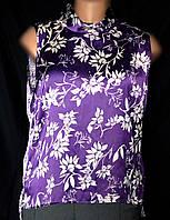 Блузка женская, большой размер, из атласной ткани, р.18(50/52), фото 1