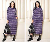 Женское удлиненное платье,размеры:46-48,50-52,54-56,58-60., фото 1