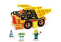 3д пазл Самосвал(Самоскид), конструктор з дерева для дітей від 4 років