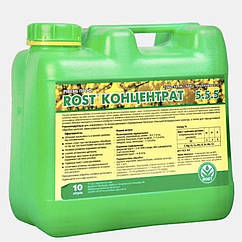 Органо - минеральное удобрение Rost  (Рост) концентрат универсальное NPK 5.5.5, 10 л,