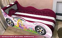 Кровать машина Рапунцель ШОК с матрасом от 1500х700, фото 1
