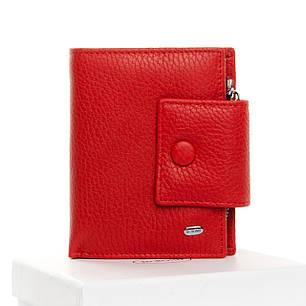 Гаманець жіночий шкіряний червоний на кнопці маленький Dr. Bond WS-5, фото 2