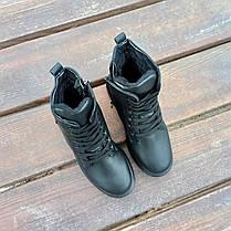 Високі Утеплені чорні Кросівки Alexander Mcqueen демисезон демі еко шкіряні, фото 2