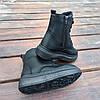 Високі Утеплені чорні Кросівки Alexander Mcqueen демисезон демі еко шкіряні, фото 4