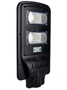 Уличный LED светильник FOYU 60 Вт фонарь на солнечной батарее с датчиком движения и пультом ДУ