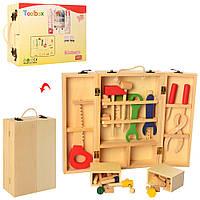 Деревяннаяянная игрушка Детский набор инструментов MD 2402 в чемодане