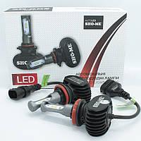 Комплект автомобильных светодиодных LED ламп для фар авто Sho-Me G8.2 H11 8000Lm 6000K Головной свет Лед