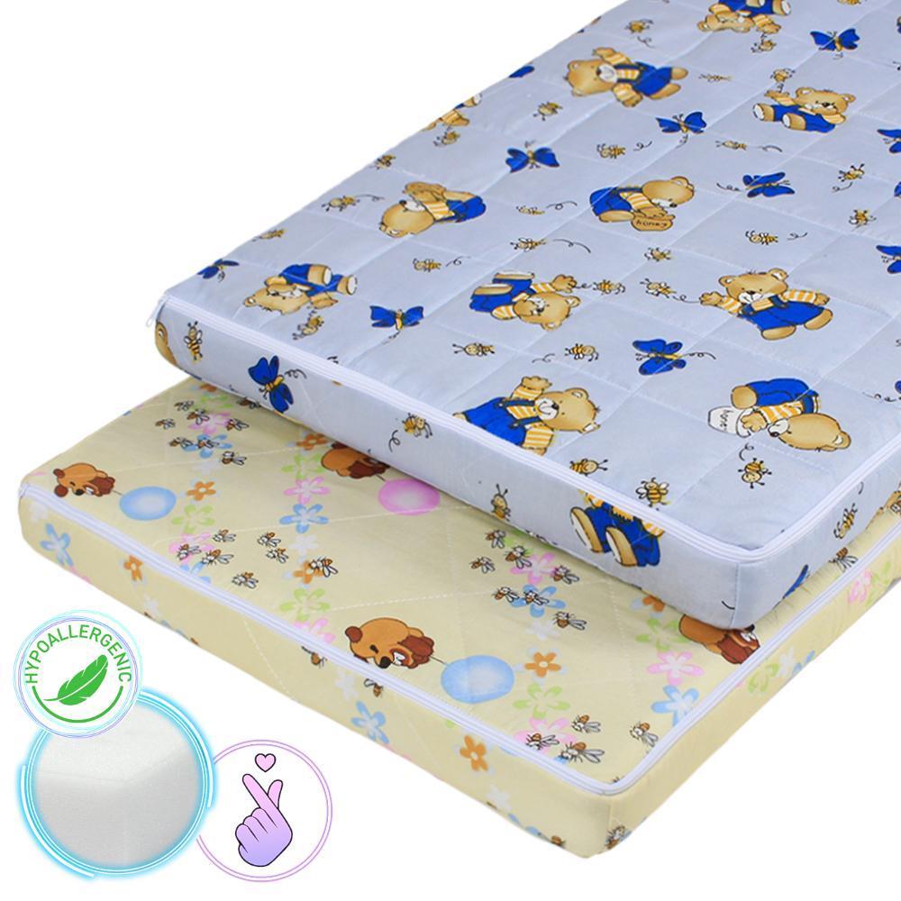 Матрас детский в кроватку из пористого поролона 120*60 см Малютка-3