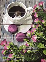 Картина по номерам на дереве Кофе и розы, 30x40 см, подарочная упаковка, Art Story (Арт Стори)