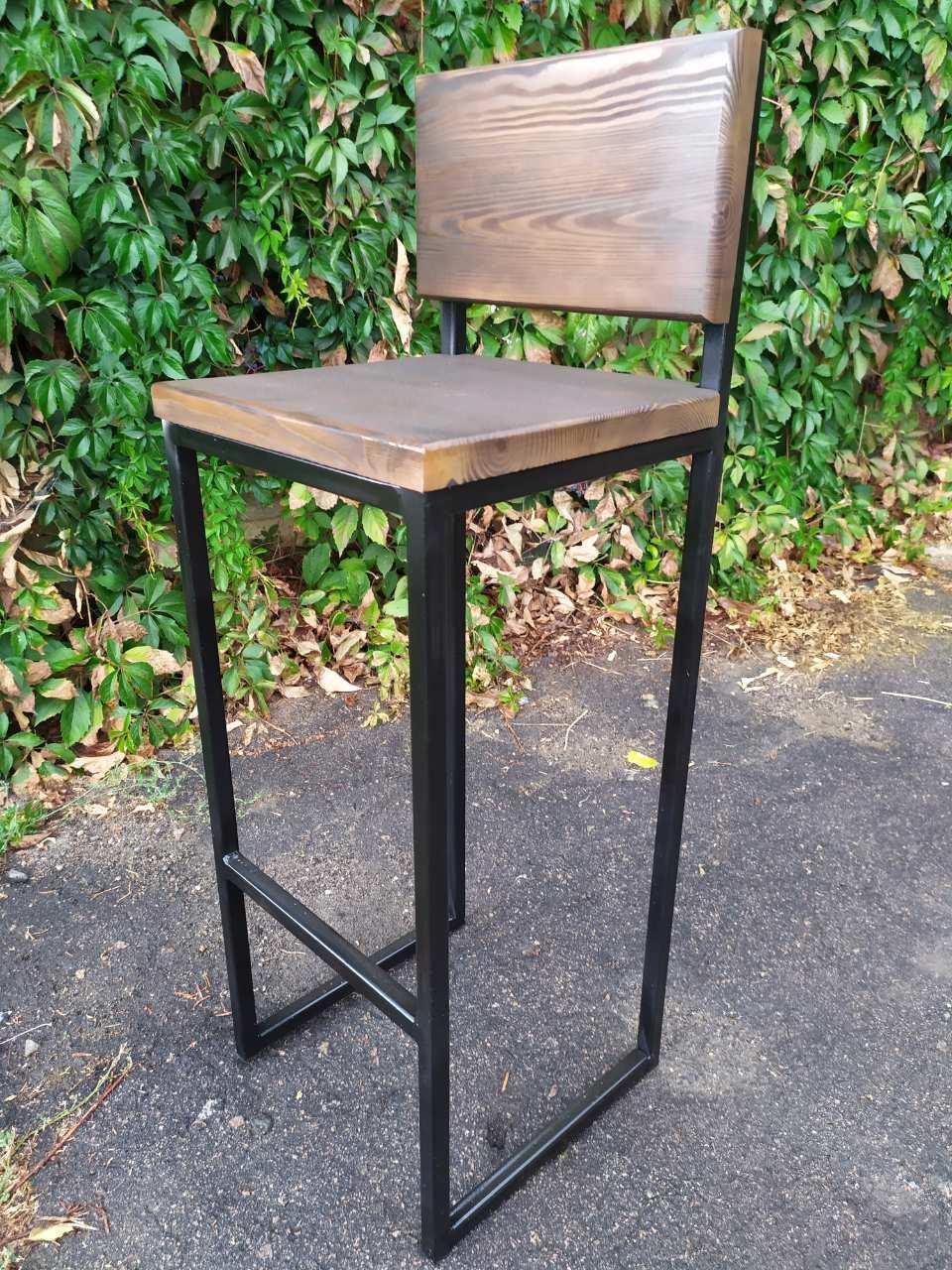 Барный стул GoodsMetall из металла в стиле ЛОФТ 750х350х350 БС7