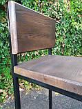Барный стул GoodsMetall из металла в стиле ЛОФТ 750х350х350 БС7, фото 5