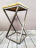 Барный стул GoodsMetall из металла в стиле ЛОФТ 750х350х350 БС15, фото 2