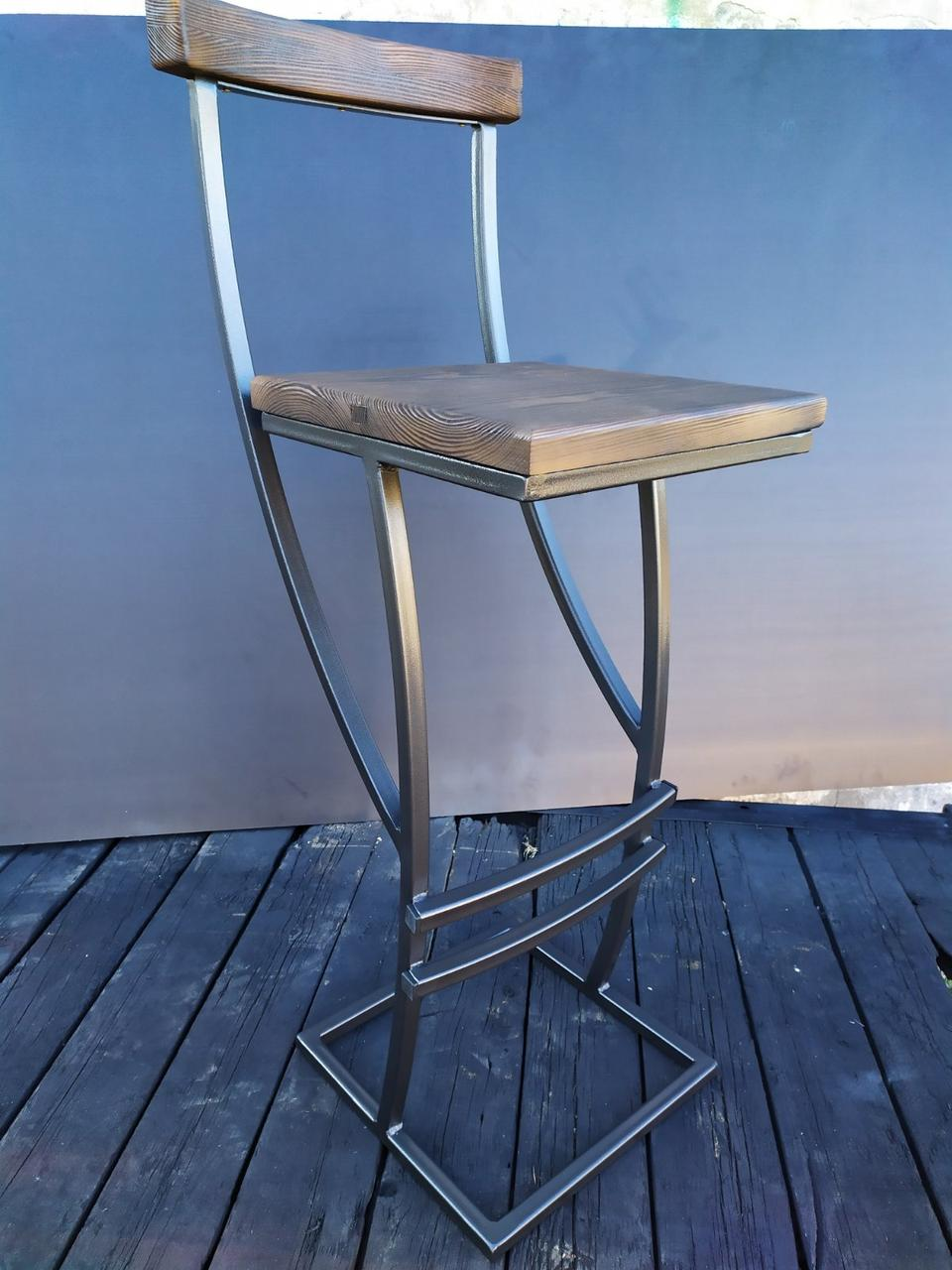 "Барный стул GoodsMetall в стиле ЛОФТ 750х350х350 ""Люксембург"""