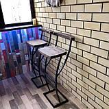 "Барный стул GoodsMetall в стиле ЛОФТ 750х350х350 ""Люксембург"", фото 8"