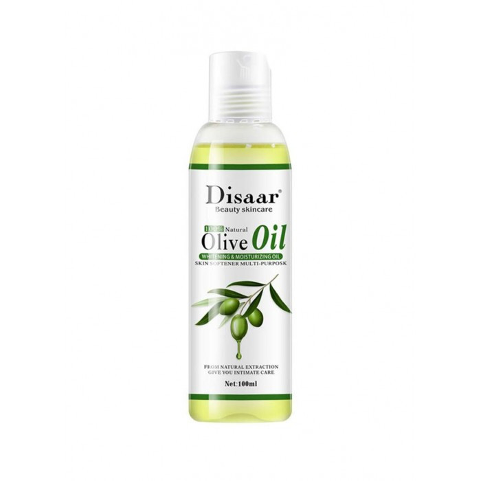 Масло массажное оливковое Disaar Olive Oil, масло оливковое натуральное, 100 мл