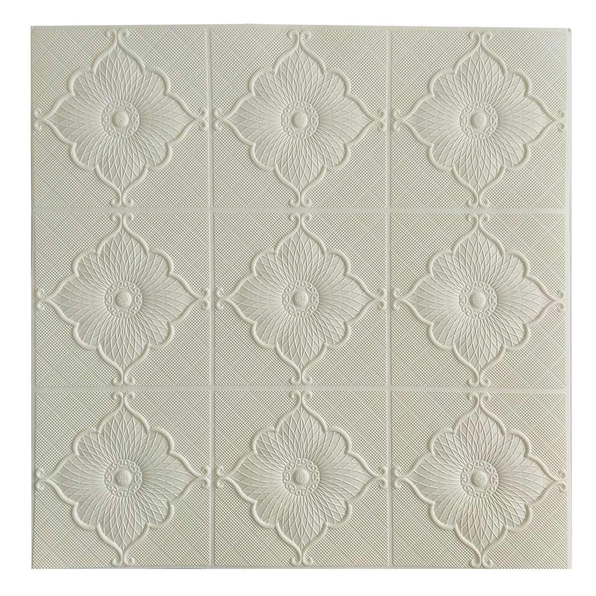 Самоклеющаяся декоративная потолочная 3D панель Лилия700x700x8мм