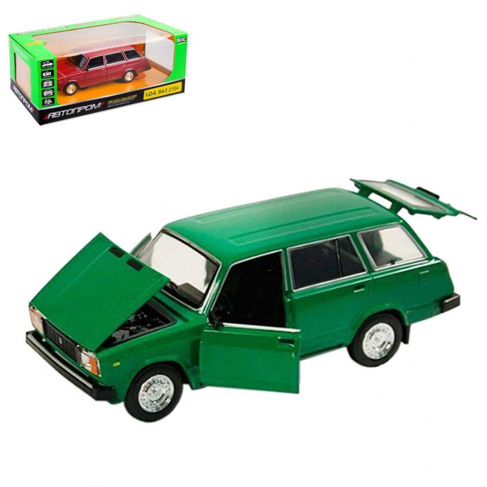 Игрушечная машинка металлическая Жигули ВАЗ-2104 Автопром Зеленый