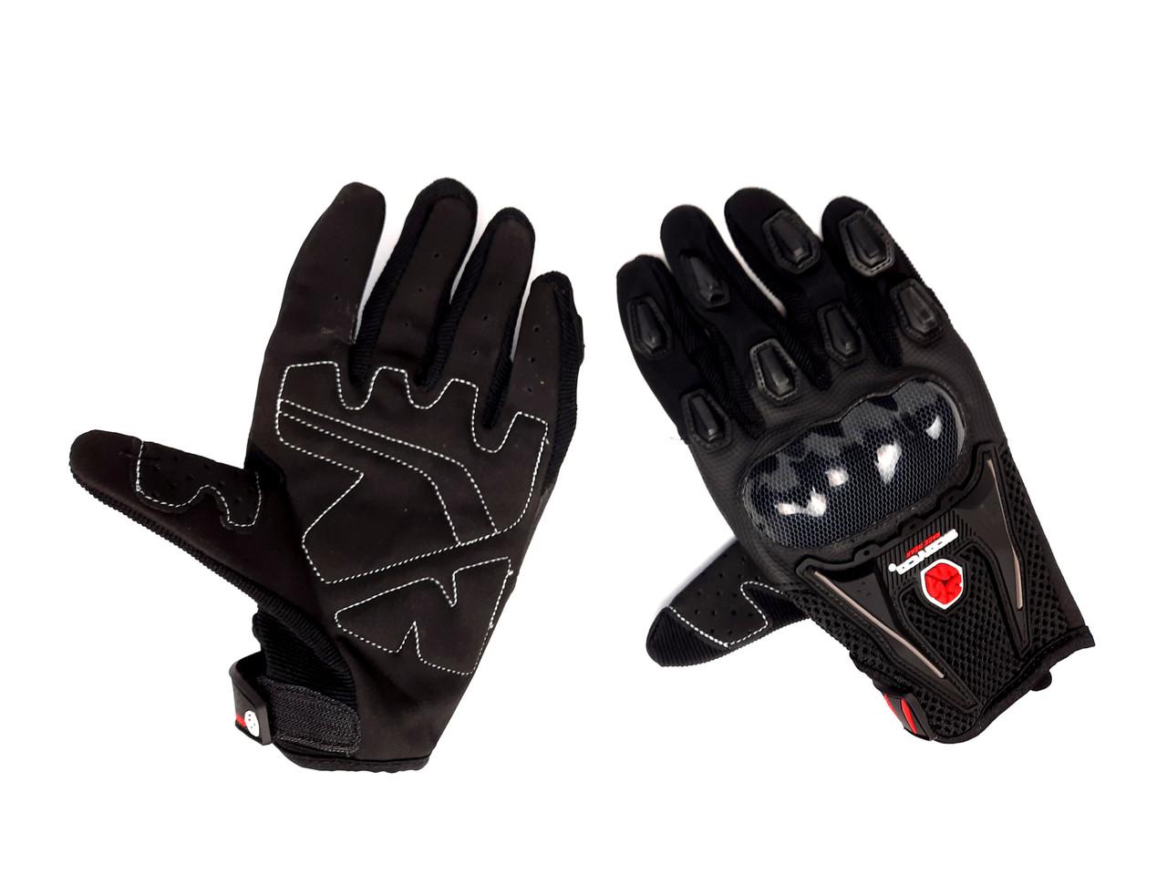 Перчатки SCOYCO HD-12 (size:M, черные, текстиль, карбон)