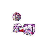 Детская палатка Bambi с тоннелем M 3777 Little Pony игровая 270х92х92 см