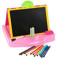 Дошка для малювання YM135-6 (Рожевий)