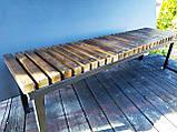 Скамья GoodsMetall в стиле ЛОФТ 1600х450х400 - ЛС62, фото 4