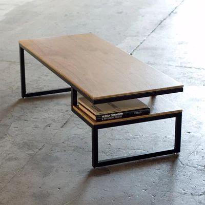 Журнальный, кофейный столик GoodsMetall в стиле Лофт 1200х550х400 ЖС452