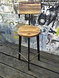 Барный стул GoodsMetall в стиле ЛОФТ 750х300х300 мм Дублин 2, фото 3