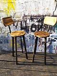 Барный стул GoodsMetall в стиле ЛОФТ 750х300х300 мм Дублин 2, фото 7