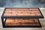 Журнальный, кофейный столик GoodsMetall в стиле Лофт 1200х600х400 Прага макси, фото 2