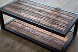 Журнальный, кофейный столик GoodsMetall в стиле Лофт 1200х600х400 Прага макси, фото 3