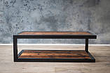 Журнальный, кофейный столик GoodsMetall в стиле Лофт 1200х600х400 Прага макси, фото 4
