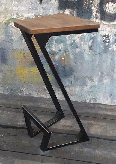 Барный стул GoodsMetall в стиле ЛОФТ 750х300х300 мм Zeta