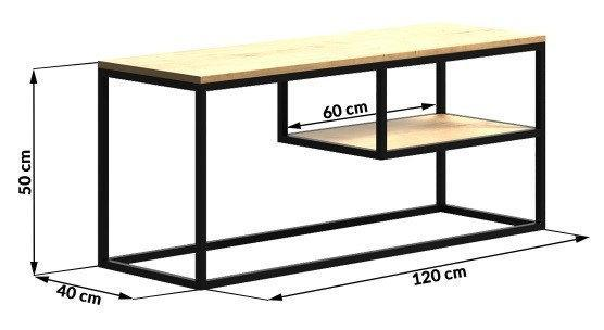 Стол консоль GoodsMetall в стиле Лофт 1200х500х400