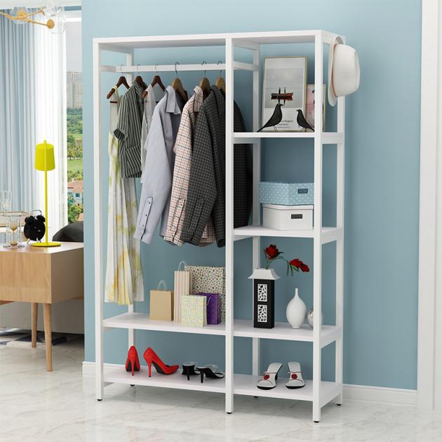 Открытый шкаф для одежды GoodsMetall в стиле Лофт 1800х1400х400мм ВШ66