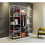Открытый шкаф для одежды GoodsMetall в стиле Лофт 2000х1600х500мм ВШ75, фото 2