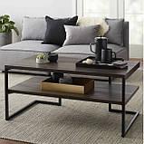 Журнальный, кофейный столик GoodsMetall в стиле Лофт 1000х500х450 ЖС104, фото 2