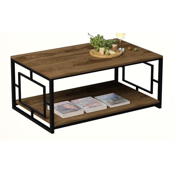 Журнальный, кофейный столик GoodsMetall в стиле Лофт 1200х600х500 ЖС157