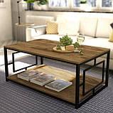 Журнальный, кофейный столик GoodsMetall в стиле Лофт 1200х600х500 ЖС157, фото 2