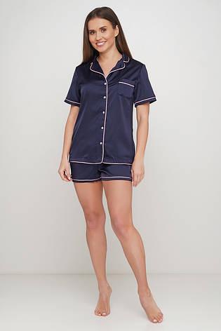 Женская пижама шорты рубашка, фото 2