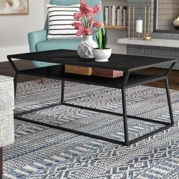 Журнальный, кофейный столик GoodsMetall в стиле Лофт 900х500х400 ЖС159