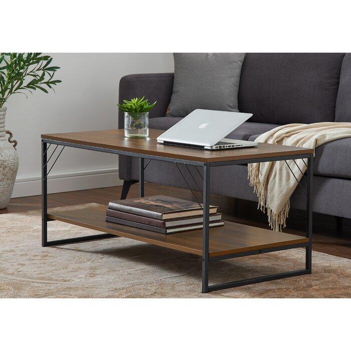 Журнальный, кофейный столик GoodsMetall в стиле Лофт 1000х500х450 ЖС165
